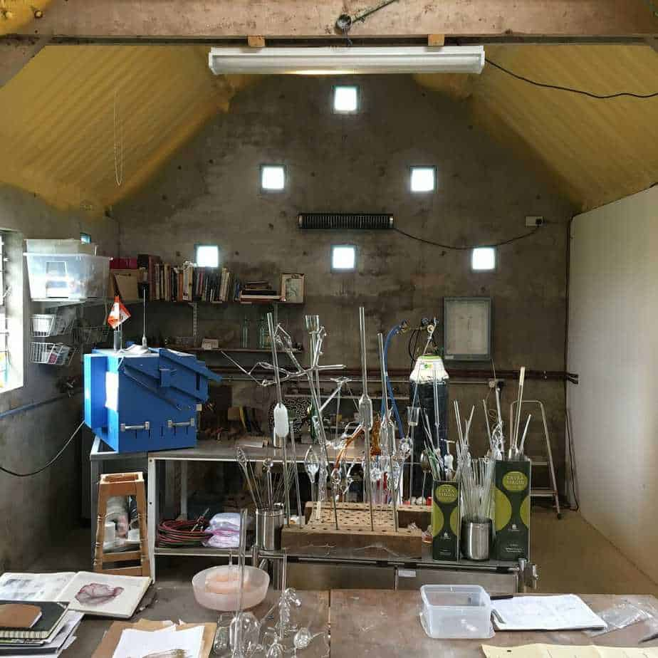Herschel infrared heating a cold workshop