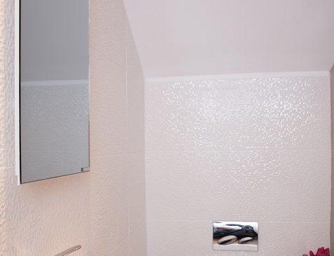 Space saving mirror heater for smaller bathrooms