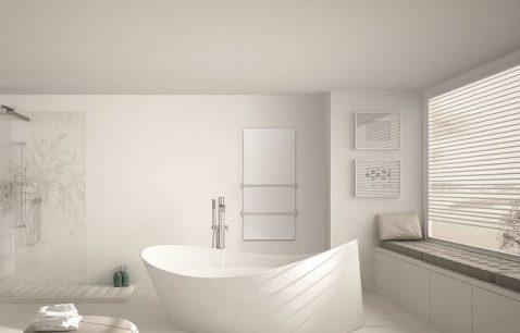 Herschel infrared towel heater for bathrooms