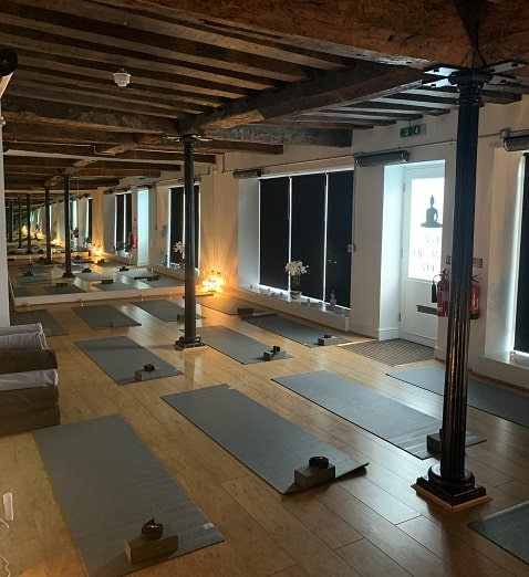 Hot yoga studio heated by Herschel