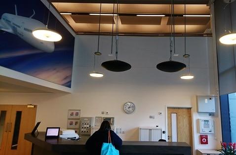 Airbus reception area heated by Herschel Infrared