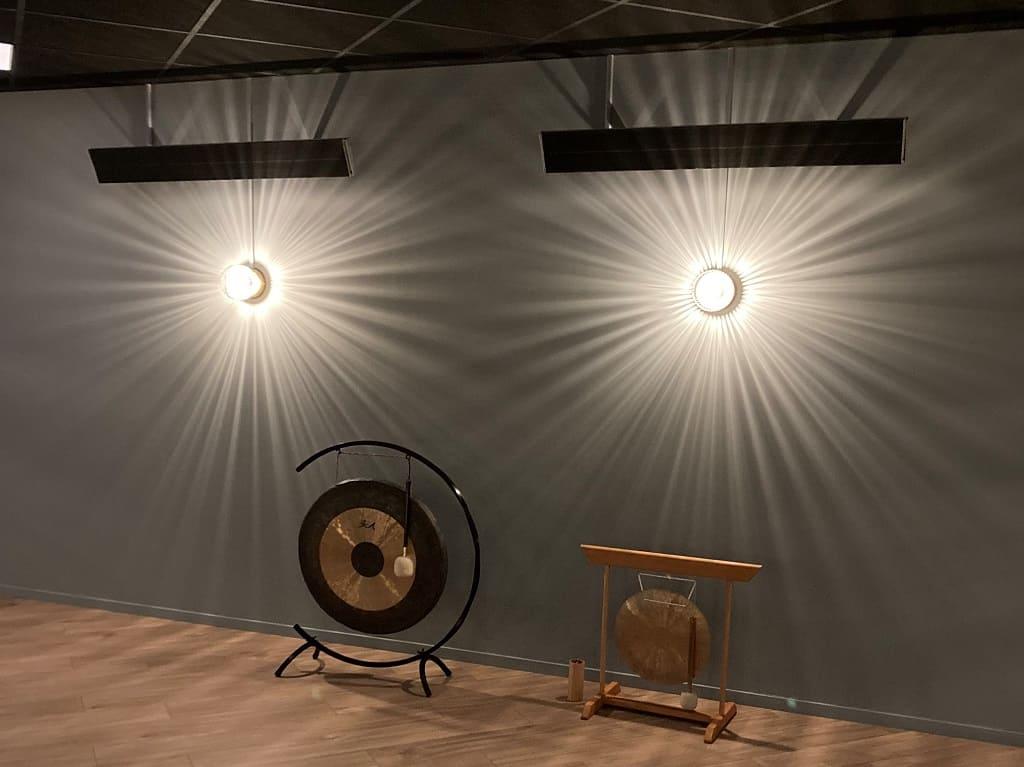 Herschel Infrared Summit heaters for hot yoga studios